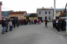 Posvätenie adventného venca obce Nálepkovo